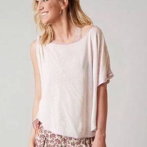 Free People Lilac Pluto One Sleeve Blouse NWT